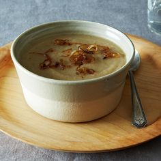 Puréed Parsnip and Cardamom Soup with Caramelized Shallots