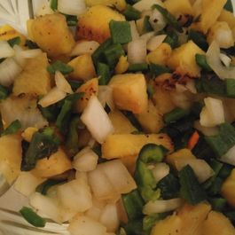 GRILLED PINEAPPLE & POBLANO SALSA
