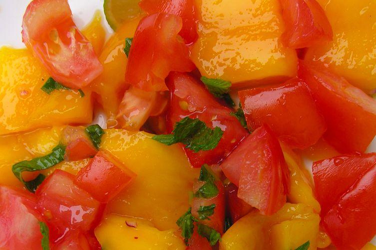 Simplified Mango and Tomato Salad