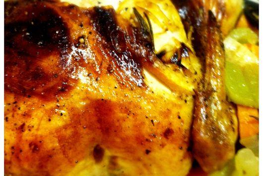 Rosemary Lemon Roasted Chicken with Creamy Sauce