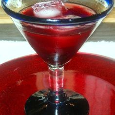 Pomegranate-Cherry VodkaTini