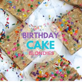 Birthday Cake Blondies