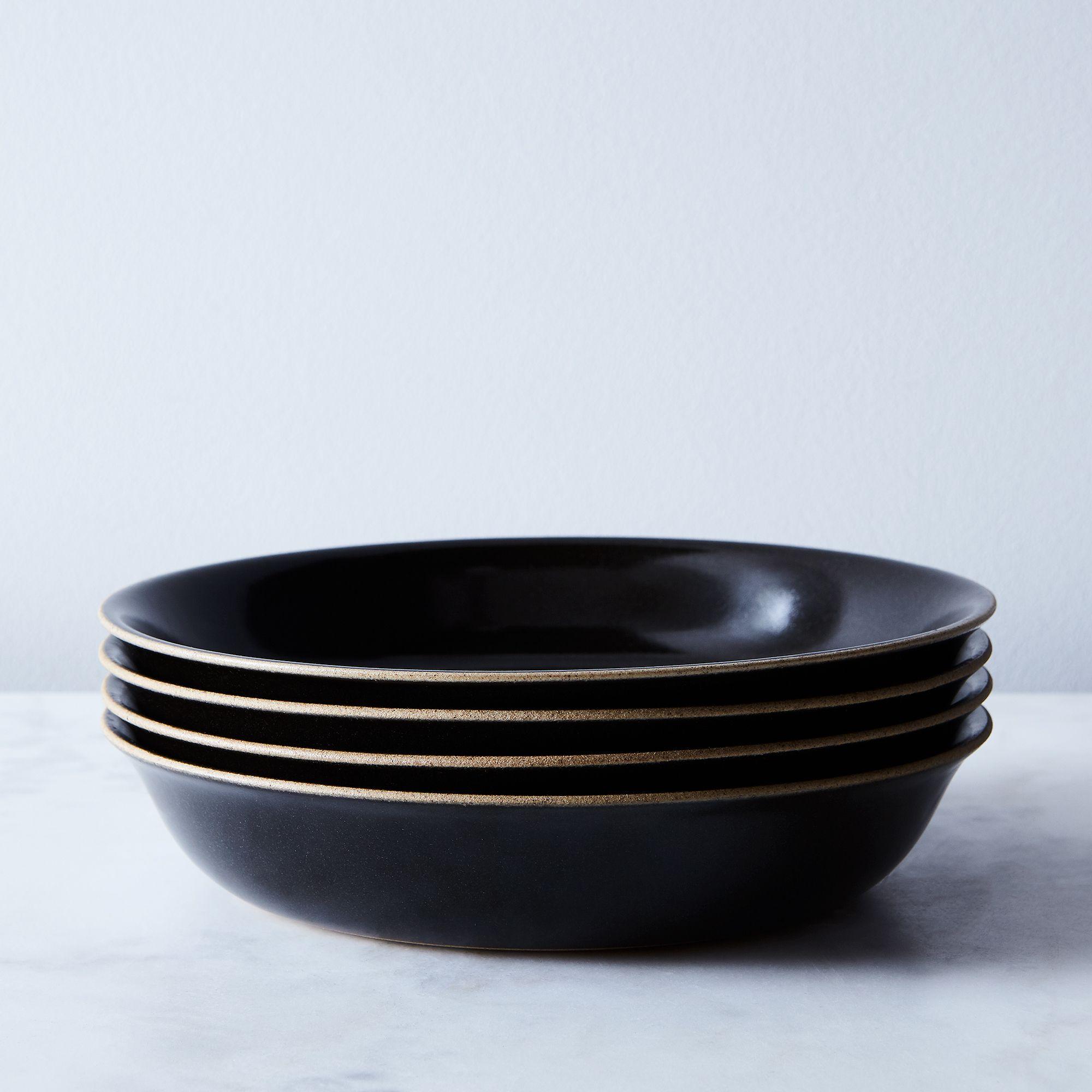F959627e 79d4 4e35 b419 201721488066  2017 0907 kinto black ceramic dinnerware set of 4 pasta plates silo rocky luten 001