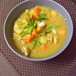Cold-Busting Coconut Chicken Curry Soup