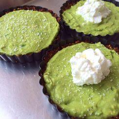 Avocado Cream Pie w/ a Date Nut Crust