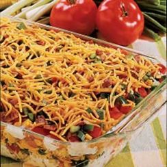 Luscious Potluck Cornbread Salad Medley