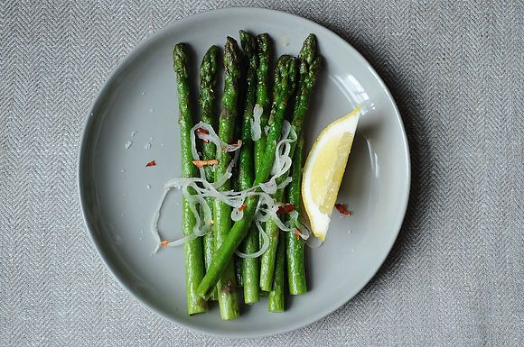 Asparagus with Shallots Chiles and Lemon