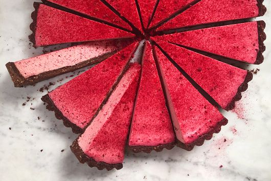 Raspberry & White Chocolate Tart With Cocoa Crust