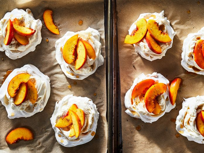 A Peachy, 5-Ingredient Take on Pavlova