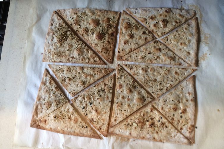 Dukkah Dusted Lavash Crackers