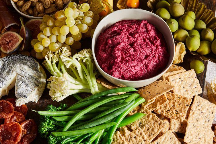 Bright Red Beet Hummus