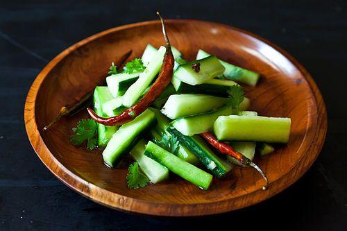 Jeffrey Alfold & Naomi Duguid's Spicy Cucumber Salad