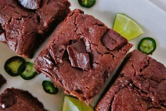 Raw Jalapeno Lime Brownies