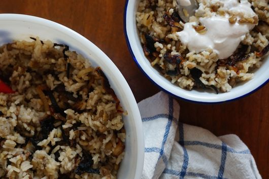 Mama's M'Jedrah (Rice and Lentils)