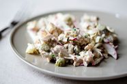 Chicken Salad with Cornichons and Radishes