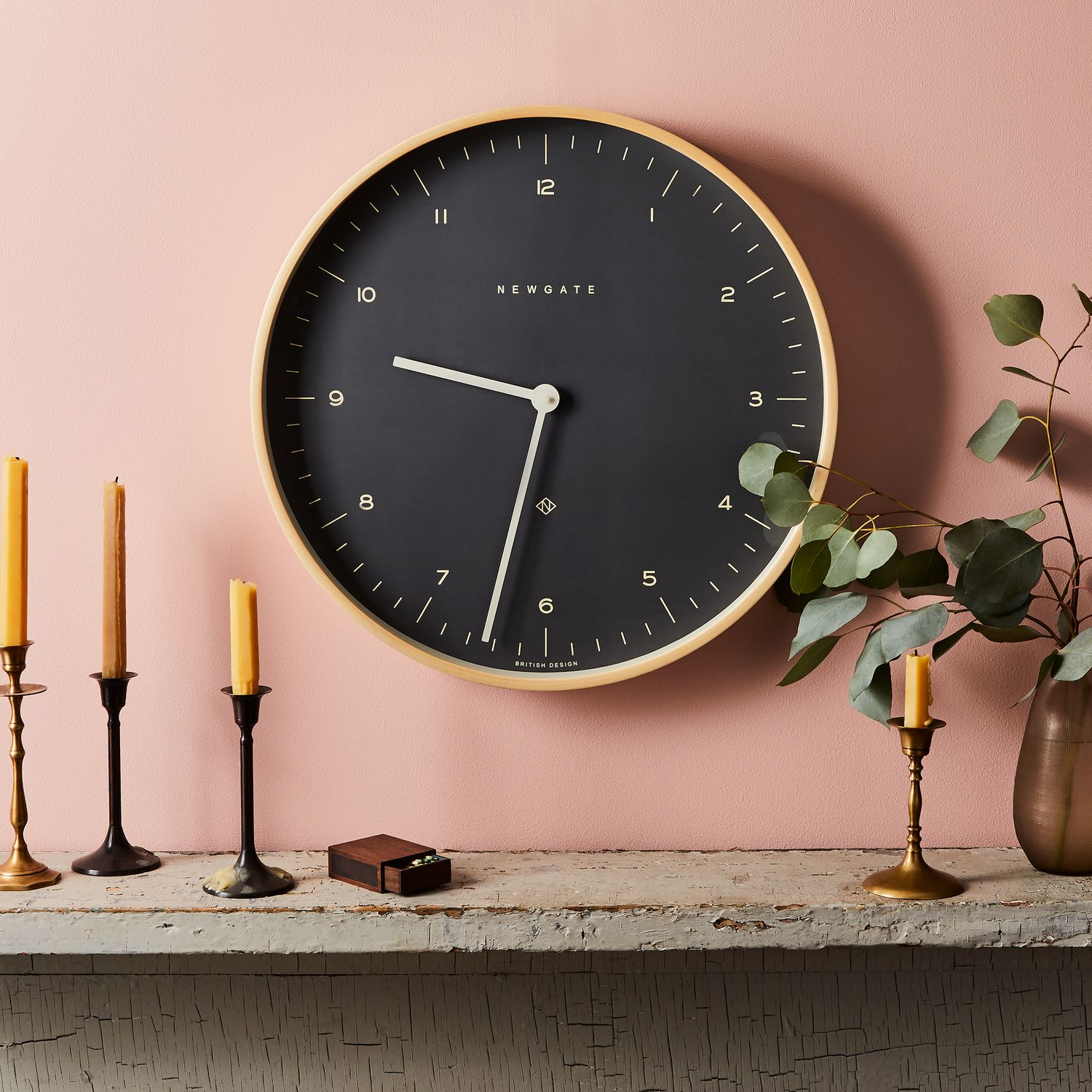 Image of: Mr Clarke Large Modern Plywood Wall Clock On Food52