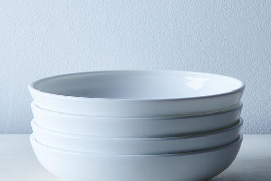 Milk Glass Shallow Bowls (Set of 4)
