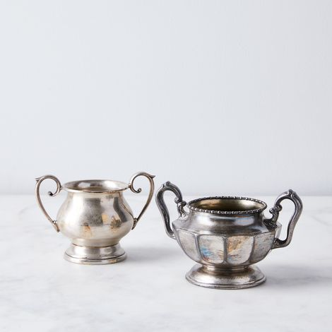 Vintage Silver-Plated Sugar Bowl