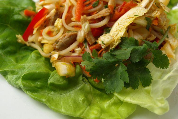 Asian Turkey Salad Lettuce Wraps