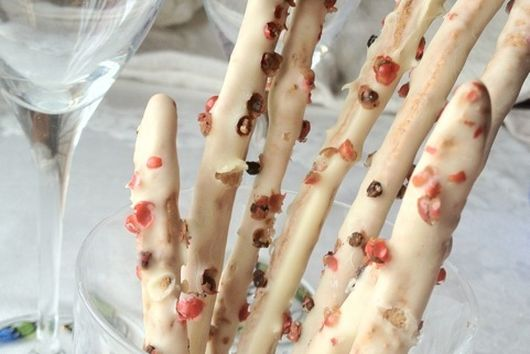 White Chocolate Whole-Wheat Cookies with Pink Peppercorns