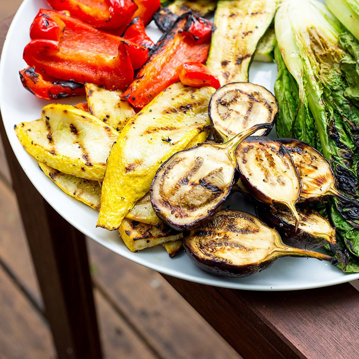 Grilled Veggie Platter With Red Pepper Hummus Sauce Recipe On Food52