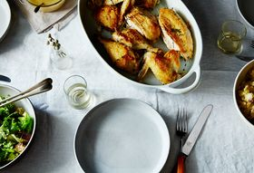 Dac93391 e494 499b 8969 dc96d76e4ccf  2015 0623 super quick roast chicken with garlic and white wine gravy james ransom 027