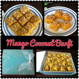 Mango Coconut Burfi (fudge)