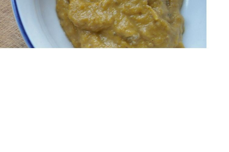 Butternut Squash Puree with Allspice and Tahini