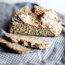 Irish soda bread with flax seeds
