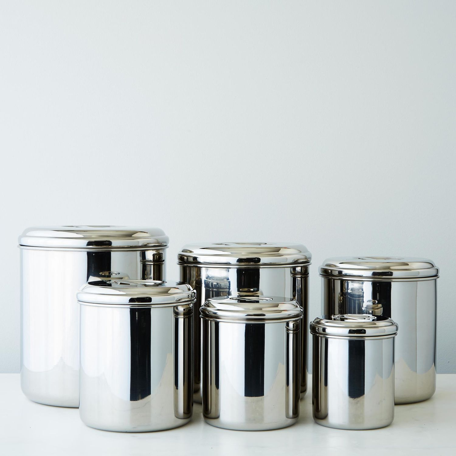 stainless steel kitchen canister stainless steel canisters set of 6 on food52 22166