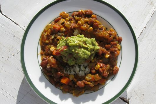 Pinto Bean & Roasted Corn Stew