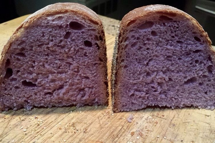 Simply Elegant Purple Cabbage Sourdough Bread