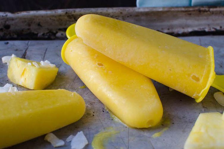 Mango Colada Popsicles