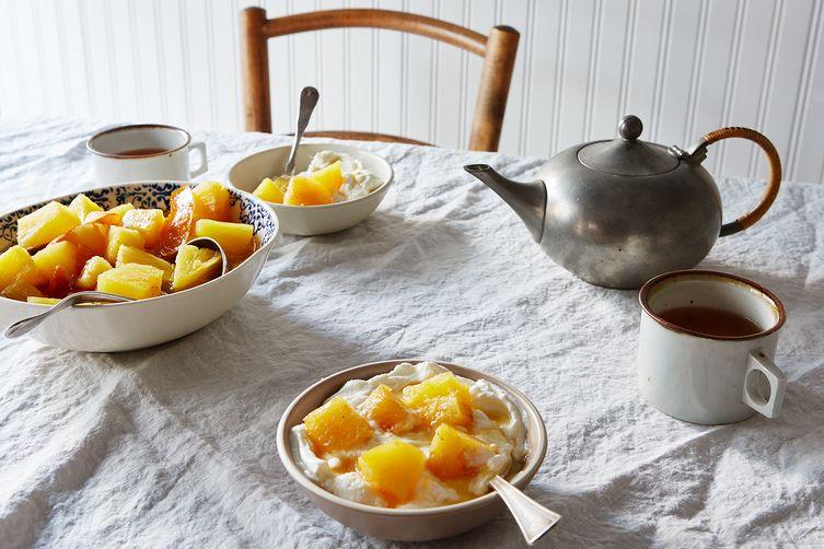 Warm Braised Pineapple