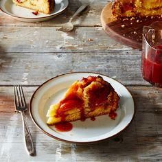 Crème Fraîche Plum Cake with Plum Caramel