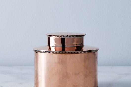 Vintage Copper Tea Caddy, Late 19th Century
