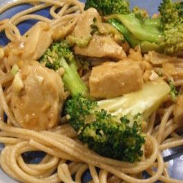 Peanut Chicken and Broccoli