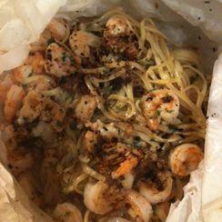 Shrimp Linguine with Garlicvermouthbutter.