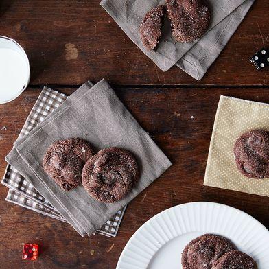 Soft Chocolate Almond Cherry Cookies