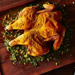 Pucker-Up Lemon Sumac Chicken with Lemon Herb Board Sauce