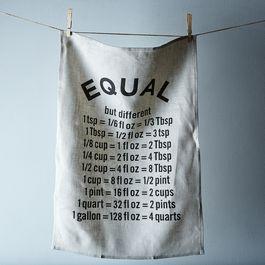 """""""Equal"""" Tea Towel"""