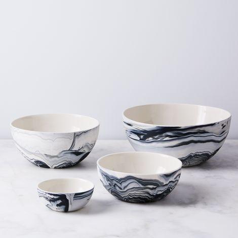 Porcelain Carrara Serving Bowl