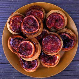 Blood Orange Upside-down Muffins