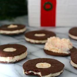 Cocoa Peppermint Sandwich Cookies