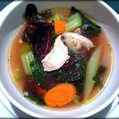 Holiday Timeout Soup: Turkey Vegetable Soup with Swiss Chard