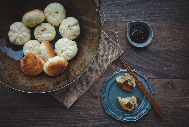 Panfried Pork Steamed Buns (Shengjian Bao)