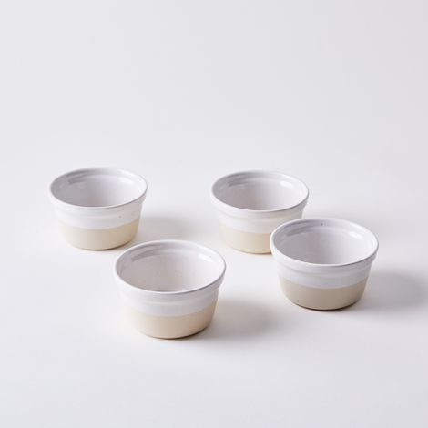 Simple Ceramic Ramekins, Set of 4