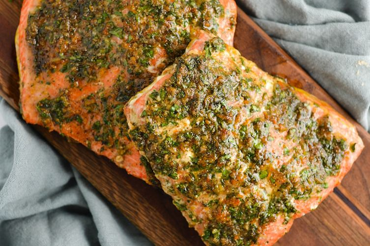 Citrus and Herb Crusted Salmon