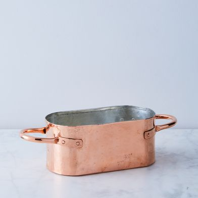 Vintage Copper French Daubiere, Early 20th Century