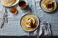 Moroccan Crêpes with Spiced Fruit Compote